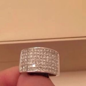 Jewelry - 18KWhite Gold 2.00Ct Princess Cut Diamond Ring