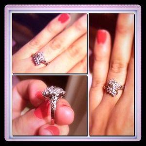 Jewelry - White gold .10 karat ring size 6.5-7.5 ring finger