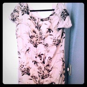 Loft printed shirt dress