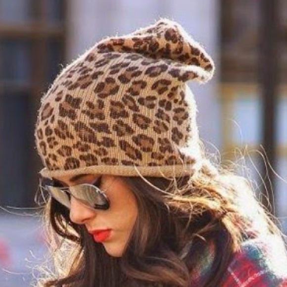 Accessories - Slouchy Leopard Beanie f90bda37372