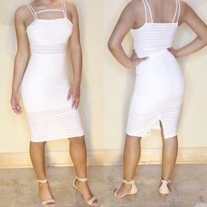Large white Kim kardashian inspired Bodycon dress