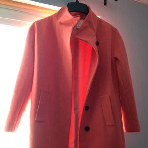 J. Crew City Coat (Neon Flamingo)