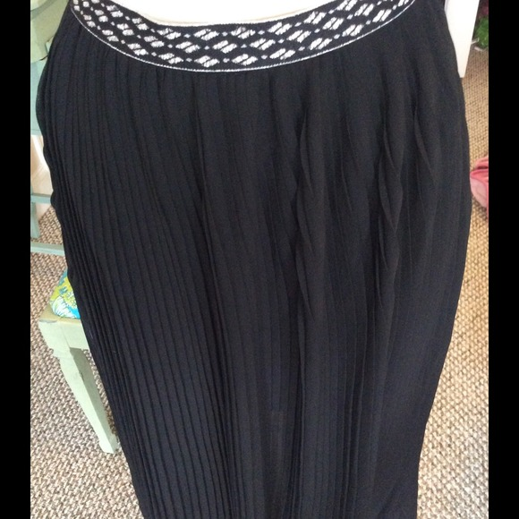 22 dresses skirts black pleated sheer maxi skirt