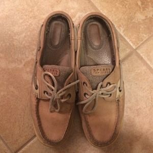 original tan woman's sperrys 