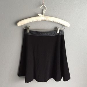 Leather Trim Skirt