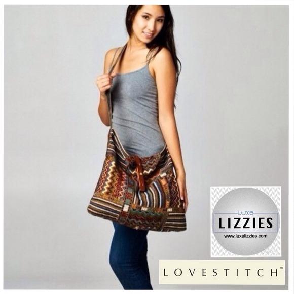 Love Stitch - ❗️SOLD OUT❗️LOVE STITCH Colorful Boho Satchel ...