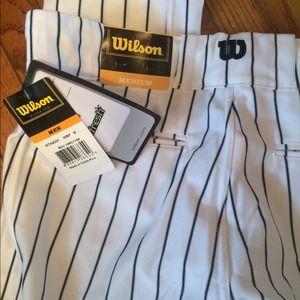 wilson Other - Wilson men baseball pants sz M black stripped NEW