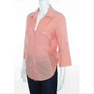 James Perse peach jersey shirt size large/3