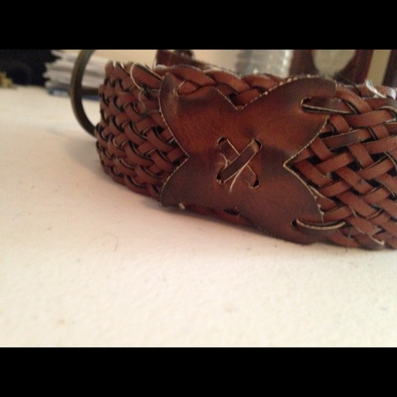 fwp thick brown belt os from lydia s closet on poshmark