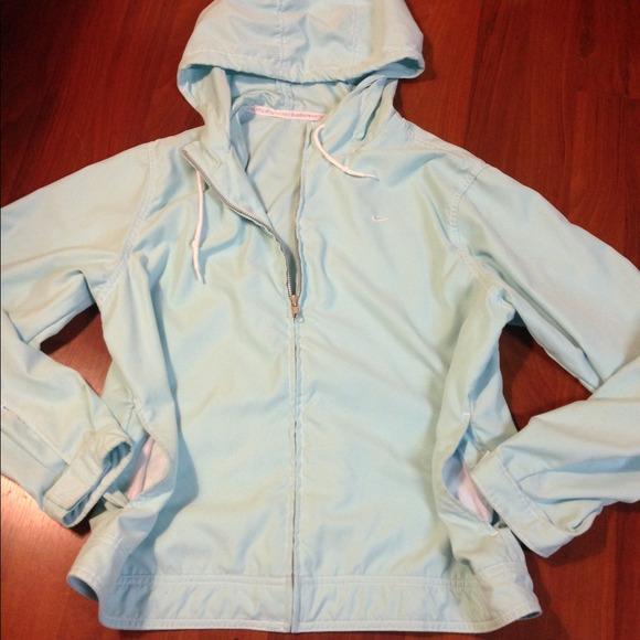 Light Blue Windbreaker Jacket jSW4rc