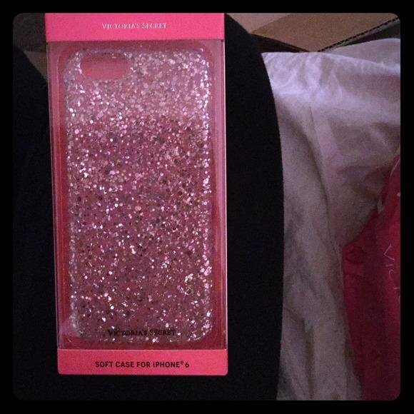 Victoria Secret iphone6 pink sparkle case e85430927b6d