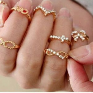 7 pcs ring & knuckle set