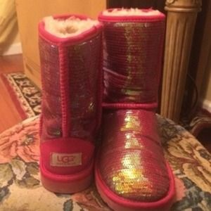 Pink sequence uggs!