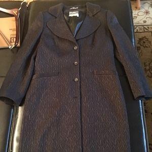 Salvatore Ferragamo knee length wool coat Sz 48/14