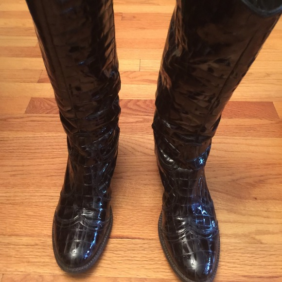 Janet and Janet Boots - Janet & Janet Italy. Leather cowboy boot. Sz 40/10