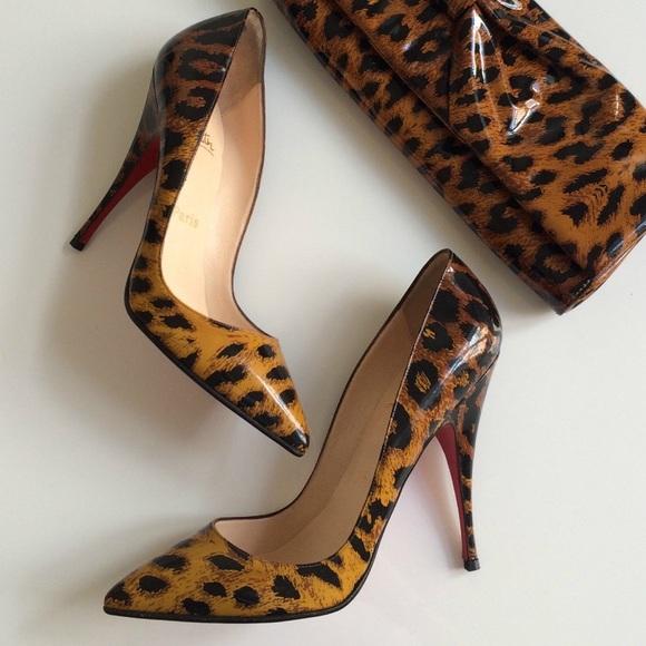 finest selection d0cec f42f4 💯Christian Louboutin Pigalle 110mm patent leopard