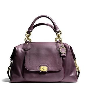 "Coach Handbags - Coach ""Campbell"" large leather satchel"