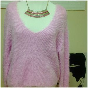 HM cropped fuzzy sweater
