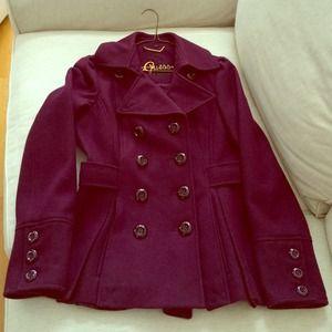 Beautiful plum colored Guess pea coat
