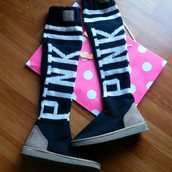 victoria's secret pink ugg boots