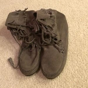 Minnetonka for Madewell moccasin boots