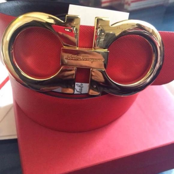 off Ferragamo Accessories - Red Salvatore Ferragamo Reversible Belt ...