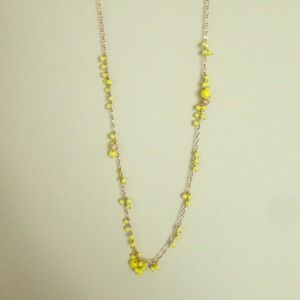 Yellow and Gold J.Crew statement necklace