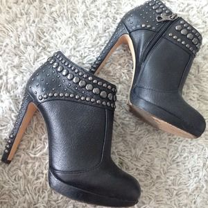 BCBG studded ankle booties