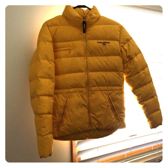 Tommy Hilfiger Jackets Coats Yellow Goose Down Feather Tommy