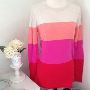Banana Republic Sweaters - Color Block Pink Sweater