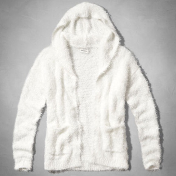 56% off Abercrombie & Fitch Sweaters - ABERCROMBIE Fluffy Furry ...