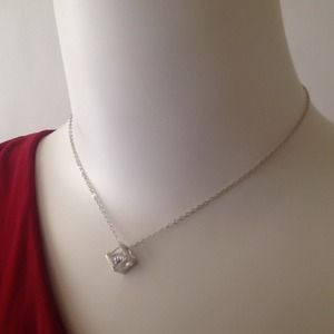 Jewelry - Cube necklace w CZ stone