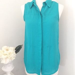 Mossimo Supply Co Tops - Teal Button Up Sleeveless Shirt