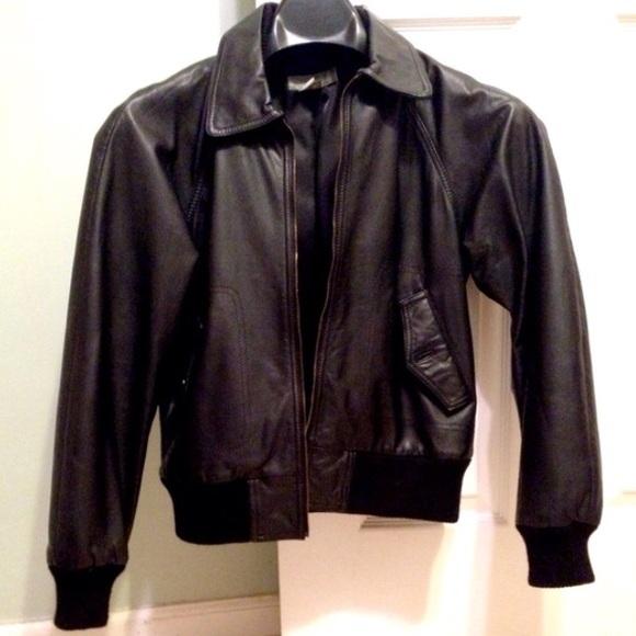 4c7ae5387 RARE J Crew vintage leather bomber jacket Petite S