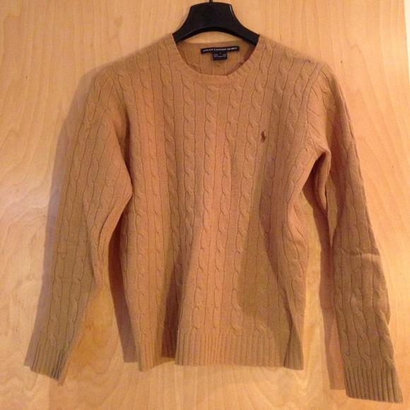 Ralph Lauren - Ralph Lauren Tan Cable Knit Wool Sweater from ...