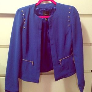 Blue studded blazer