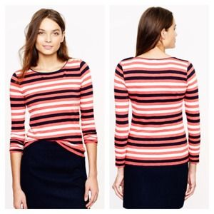 J. Crew Tops - J Crew Boatneck Button Tee