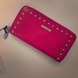 Authentic Rebecca Minkoff Red Studded Wallet