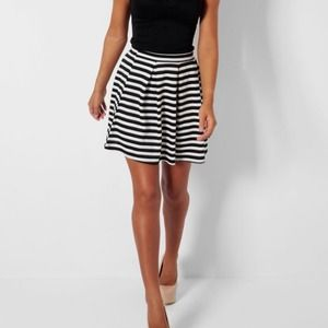New York & Company Dresses & Skirts - Black and White Striped Skirt