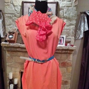 REDUCED $8 New Beautiful long blouse with belt