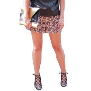 Cynthia Rowley Cheetah Print Shorts