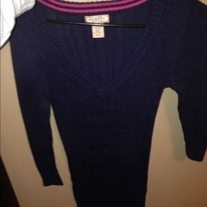 Navy knitted sweater!