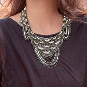 Final Price Stella & Dot Marrakesh Bib Necklace