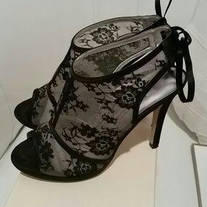 Caparros Shoes - Black lace booties