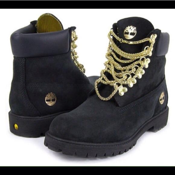 Kjøpe Svart Timberland Støvler Med Gullkjeder xfIckh1T
