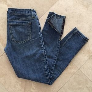 Forever 21 zip ankle skinny jeans