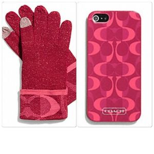 📛CLEARANCE📛 NWT COACH IPHONE 5 CASE/TOUCH GLOVES