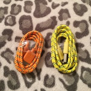 Other - Braided IPhone 5/5s and 6/6plus cords