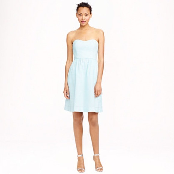 69% off J. Crew Dresses &amp- Skirts - Strapless seersucker dress from ...