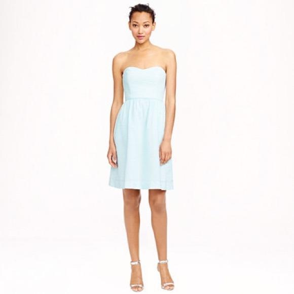 69% off J. Crew Dresses &amp- Skirts - Strapless seersucker dress from ...